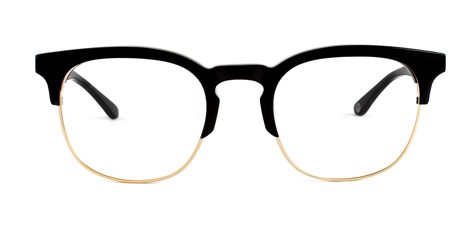 427ce895459 Atticus Prescription Eyeglasses in Glossy Black and Gold - Park and ...